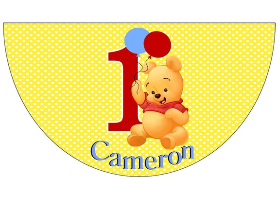 Disney Winnie the Pooh First Birthday Party Hats