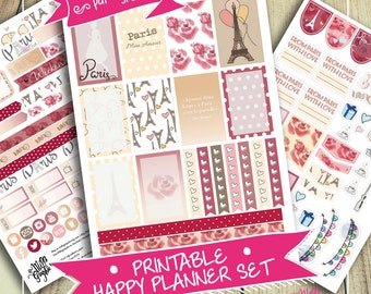 French / Parisian Life Week Set Stickers for Big Happy Planners (Digital PDF File/Printable)