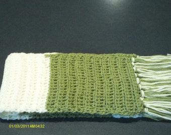 Crocheted Fringe Scarf