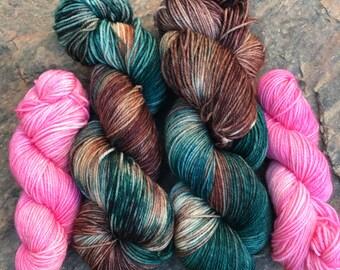 Camo Pink Sock Yarn
