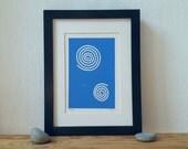 BatonRouge, Linoprint, Originalgrafiken, moderne Kunst, abstrakte Kunst, bildende Kunst, drucken, Kunst, minimalistisch, Scandi, Kreise, Spirale
