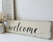 Wooden Welcome Sign, Farmhouse Style, Wood Welcome Sign, Welcome Sign Wood Rustic Finish