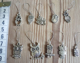 Owl knitting markers
