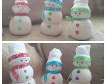 Sock snowman - Snowmen - Christmas Decorations - Christmas Snowman