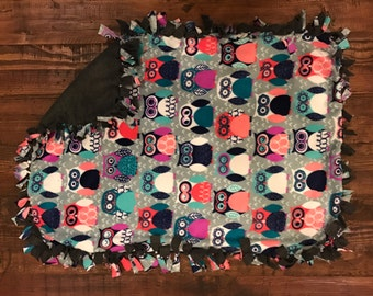 Trendy Owls Fleece Blanket