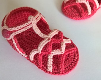 Crochet baby PATTERN Sandals. Baby sandals pattern. Summer Striped Sandals. INSTANT DOWNLOAD