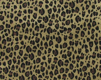 Cheetah Print Fabric For Quilting, Sewing, Pillow Covers, Drapes, Curtains, and Sheets.