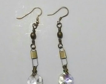 Handmade Crystal Chandelier Drop Earrings