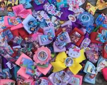 Character Grab Bag / Princess Bows / Disney Bows / Cartoon Bows
