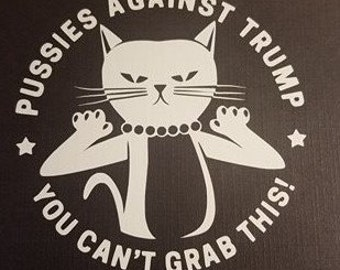 Pussies Against Trump  Funny Decal
