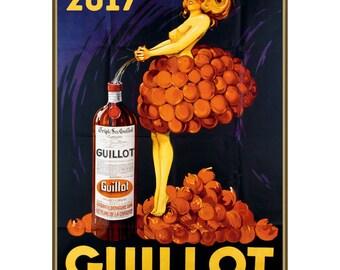 "Wall Calendar 2017 (12 pages 8""x11""/A4) Liquor Alcohol Ads Vintage Advert Poster M526"