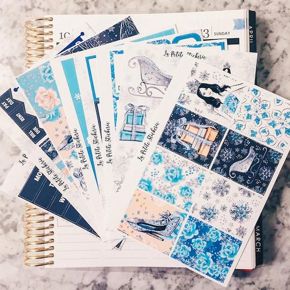 Ice Queen Deluxe Kit  - Erin Condren Vertical Weekly Planner Sticker Set