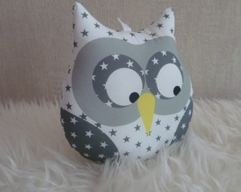 Starry white musical OWL cushion