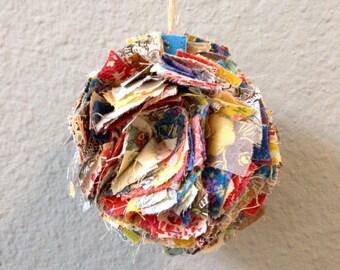Fabric Pom Poms (Set of 5)