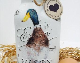 Handmade Mason Jar Duck Wadddle and Quack