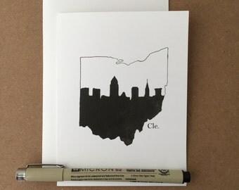 Cleveland Ohio Skyline Stationery