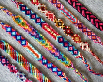 Colorful boho chic friendship bracelets