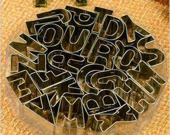 Alphabet Set Cookie Cutters - 26 Alphabet all in 1 set