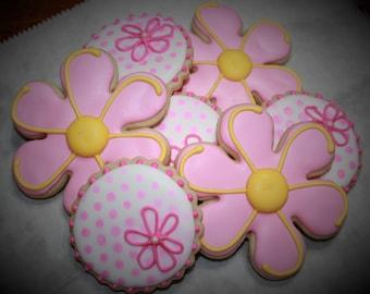 1 Dozen Flower Cookies