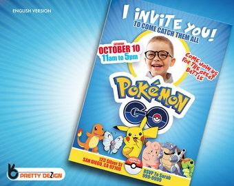 POKEMON GO INVITATION Customizable and Printable - Digital File - Downloadable Pokemon Go - I Invite You