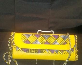 Ankara African print clutch