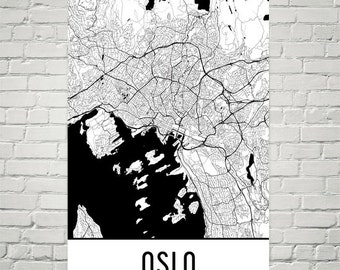 Oslo Map, Oslo Art, Oslo Print, Oslo Norway Poster, Oslo Wall Art, Oslo Gift, Map of Oslo, Oslo Poster, Oslo Decor, Oslo Map Art Print