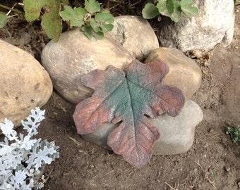 Handmade Concrete live Fig Leaf Casting