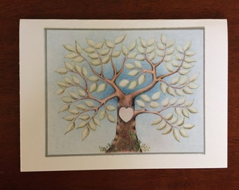 Wedding, Engagement, Anniversary Card - Natural Tree