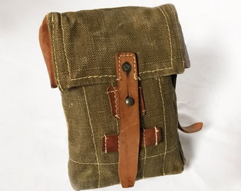 """Canvas Holster """"The Ranger"""" Messenger Bag Army Military Vintage Antique Purse Fanny Pack"""