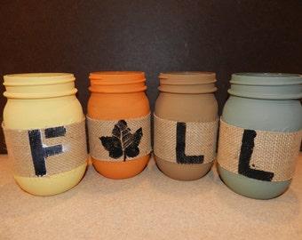 Fall Mason Jar Set