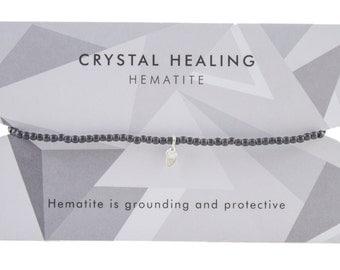 Hematite Crystal Healing Charm Bracelet