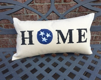 Tennessee Tri-Star Home Pillow