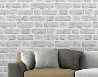 Grey Brick effect Wallpaper