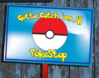 Pokemon, pokemon party decorations, pokemon decorations, pokemon birthday decorations, pokemon birthday, pokemon party, yard signs,
