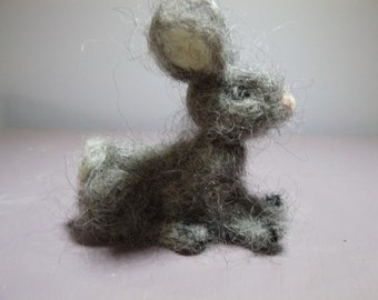 felted Merino Wool rabbit