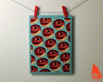 Chocolate Donut Pattern Greeting Card