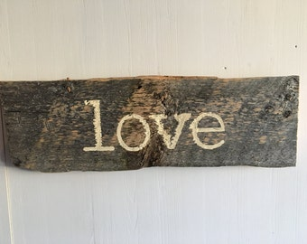 Barnwood Sign, Love