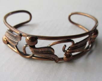 Bell Trading Post Vintage Native American Copper Cuff Bracelet