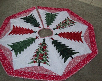 Christmas Tree Skirt #41 Quilted