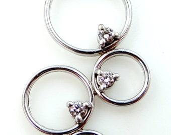 14k White Gold & Diamond MWI Eloquence Necklace