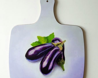 Aubergine, Eggplant - chopping board