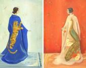 Peacock Kimono & Tiger Kimono 8x10 Print Set