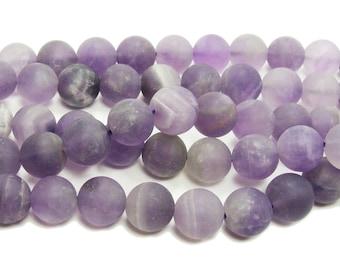 Amethyst Matte Round Gemstone Beads