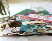 Christmas Embellishment Pack, Christmas Scrapbooking Supply, 50 Paper Pieces, Holiday Embellishments, Junk Journal Pack, Smash Book