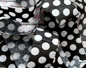 FREE SHIPPING Black Polka Dot Crepe Paper Roll for DIY Party Decor Banner (over 6 feet long)