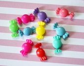 Set of Ten Tiny Plastic Candy Barrettes for Blythe or Similar Doll
