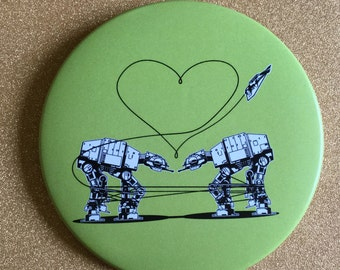 Green AT-AT Love 3.5 Inch Giant Magnet - Star Wars Magnet, Fridge Magnet, Refrigerator Magnets, Star Wars Gift, Star Wars Party