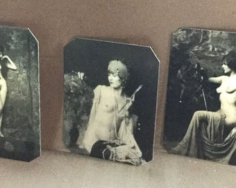 Lot of 3 Ziegfeld Alfred Cheney Johnson Risque Tintypes 415-417NP