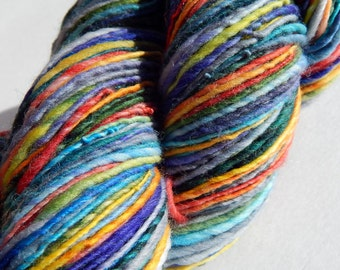 Rainbow Run III-Self Striping Handspun Yarn