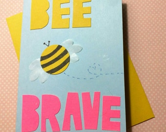 Bee Brave (Honey + Hot Pink) // Cards For Encouragement